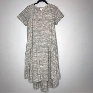LuLaRoe Carly Heather Gray Medium T-Shirt Dress